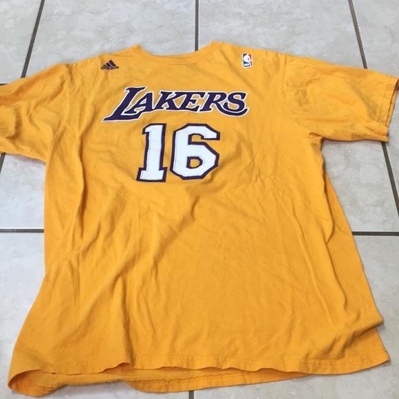 quality design 51c10 d926a Los Angeles Lakers Pau Gasol Shirt